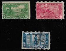 US Scott #617-19, Singles 1925 Lexington-Concord FVF Used