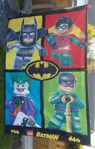 RARE DC Comics Lego Batman & Friends Single Reversible Duvet Cover + Pillowcase