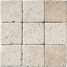 Sample of Tumbled Light Travertine Tile 10x10 cm