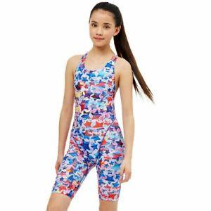 Maru Lucky Star Girls Pacer Legsuit Chlorine Resistant Swimming Pool swimwear