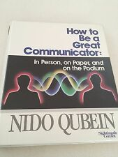 "NIDO QUBEIN  Audio Cassette Set ""How to Be a Great Communicator"" 6 tape set"