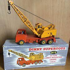 VINTAGE DINKY SUPERTOYS 972 COLES 20 TON LORRY MOUNTED CRANE & ORIGINAL BOX 1955