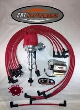 '59 '60 EDSEL RANGER 292 Small HEI Distributor RED + Spark Plug Wires & 50K Coil