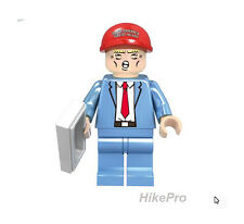 NEW Custom Lego Print Donald Trump President Mini Figure Billionaire with Cap