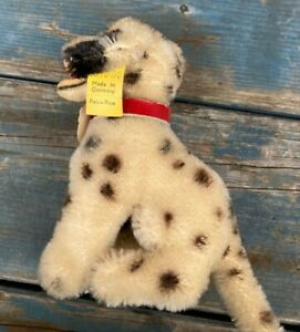 """Very Good Vintage Steiff """"Dolly"""" Dalmatian Pup Toy 4"""" Tall"""