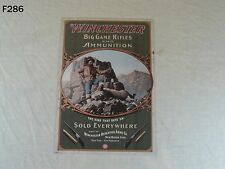 VINTAGE STYLE WINCHESTER REPEATING ARMS CO. BIG GAME RIFLES AMMUNITION SIGN COOL