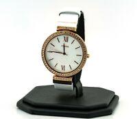 Michael Kors Women's Pyper Three-Hand White Leather Watch MK2802, New