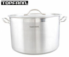 Deep Stainless Steel Stock Soup Pot 17l Commercial Stew Casserole Brew 32cm Chef