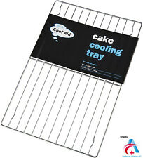 More details for chef aid oblong cooling cake rack banded 30.5 x 23.5 cm-silver