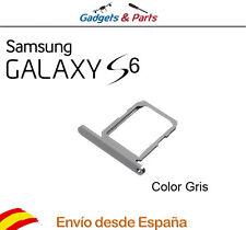 Bandeja porta tarjeta Sim Samsung Galaxy S6 G920f color gris