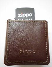 Zippo Cigarette Case Zigaretten Box in braunem Leder in Geschenk Box
