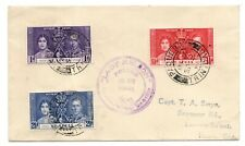 More details for st lucia 1937 coronation cover lady nelson 'posted on the high seas' ws24278