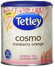 Tetley Cosmo Cranberry Orange Herbal Tea - 6 Pack - 20 Tea Bags Per Container