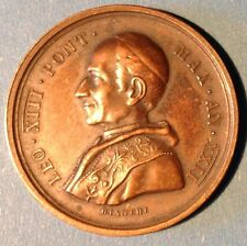 Pope LEONE XIII - 1890  - Bronze Medal