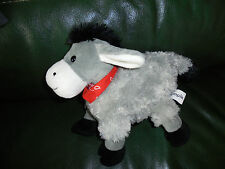Doudou empik ane curly plush grey white black red bandana new