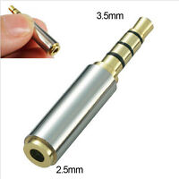 JT58 2.5mm Female to 3.5mm Male MIC Stereo Audio Headphone Adapter Converter