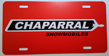 Vintage Chaparral Red Snowmobile Logo Novelty License Plate