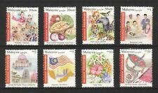 MALAYSIA 2016 INT'L POSTAGE (FLAG, FRUITS, FESTIVAL & ETC.) COMP. SET OF 8 STAMP