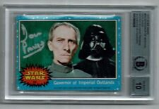 DAVE PROWSE DARTH VADER STAR WARS CARD SIGNED AUTOGRAPHED BAS BECKETT GRADE 10