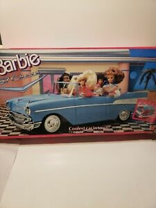 Vintage 1989 Barbie 57 Chevy Bel-Air Convertible Car Mattel Turquoise