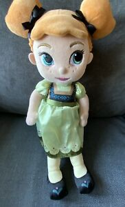 "Disney Store Frozen Anna Toddler Plush 14"" Excellent Condition"