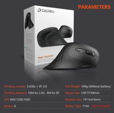 DAREU Magic Bluetooth 4.0 + 2.4Ghz Wireless Vertical Ergonomic Optical Mouse