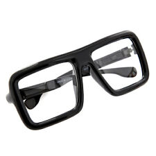 Large Thick Retro Nerd Big Oversized Square Frame Clear Lens Glasses Harry Caray