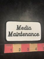 Vintage MEDIA MAINTENANCE Advertising / Uniform Patch 95NB