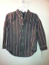 NWT boys Size 6 Polo Ralph Lauren Striped Button Down Long Sleeve Dress Shirt