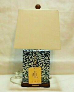 Ralph Lauren Blue & White Floral Chinoiseries Porcelain Table Lamp Shade New