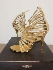 Balmain Giuseppe Zanotti Gold Metallic Crystal Sandals Size 37 Audrina Patridge
