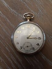 Wind Up Vintage Pocket Watch Swiss Made 7 Jewels Barclay Mechanical