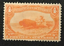 1898 4c Trans-Mississippi Issue Indian Hunting Buffalo Mint XF OG H