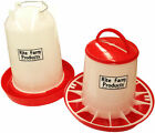 COMBO X-LARGE RITE FARM PRODUCTS 4 GAL & 20 LB WATERER & FEEDER CHICKEN POULTRY