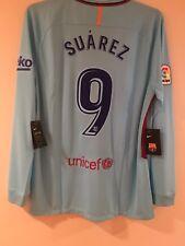 Nike FC Barcelona 17/18 Away L/S Suarez 9 Jersey Sz XL NWT Authentic