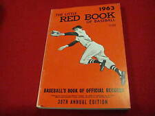 1963 Little Red Book of Baseball       38th annual edition