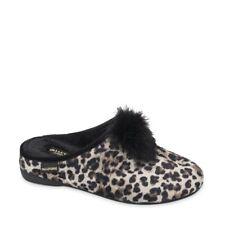 VALLEVERDE 22143 pianelle pantofole zeppa panno animalier maculato pon pon