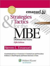 Strategies and Tactics for the MBE by Steven L. Emanuel (2012, Paperback, Stude…