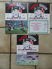 3 x Manchester United Home Football Programmes - Div 1 - 1990/1991 - Lot 51