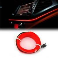 2M Red LED Car Interior Atmosphere Wire Strip Light Lamp Decor Universal 12V