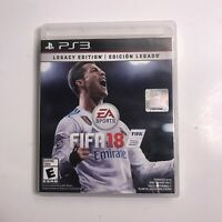 FIFA 18 LEGACY EDITION PS3  complete w/ case game manual EA SPORTS