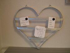 Herz aus Metall als Memoboard zum aufhängen Magnettafel für Notizen Handarbeit