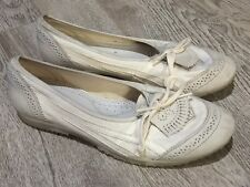 ASICS ONITSUKA TIGER Slip On Kiltie White Ballet Flats Size US 6 #12648