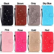 Diamond Butterfly Wallet Leather Flip Case For iPhone 4S 5C SE 5S 6S 7 8 Plus X