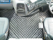 TRUCK   ECO LATHER FLOOR MATS SET FIT VOLVO FH3  2009-2013 TWIN AIR SEATS-BLACK