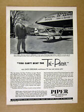1957 Piper Tri-Pacer at Danbury School of Aeronautics hangar photo print Ad