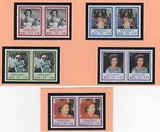 VANUATU 10 timbres neufs 1987 aide aux victimes de l'ouragan /T351