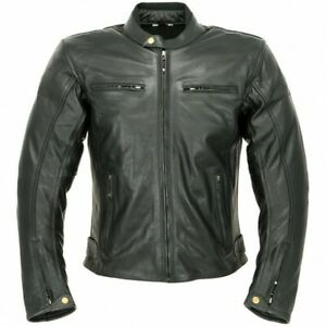 OXFORD BUDDY 2 CLASSIC LEATHER ARMOURED JACKET BLACK SIZE 44 RRP £179.99