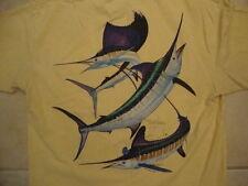 Guy Harvey Original Fishing Front Pocket Yellow T Shirt M
