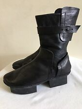 New w/o Box TRIPPEN Black Leather 'Chloe f' Box Boots Shoes Size 40 / US 9